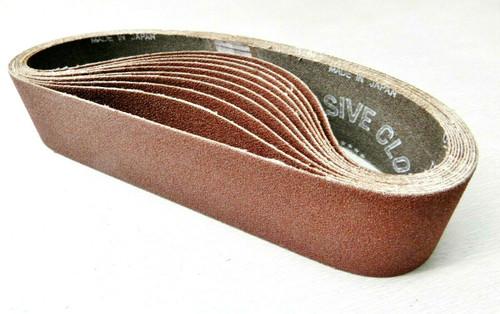 """6"""" Abrasive Sanding Belt for Expanding Drum Sander Aluminum Oxide 120 Grit 10 Pk"""
