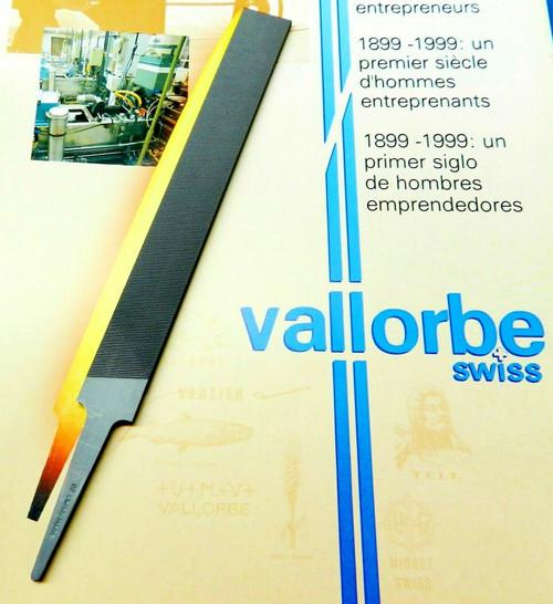 "Glardon Vallorbe Flat Hand File - 6"" Cut # 00 Extra Coarse UMV Swiss Made A1"