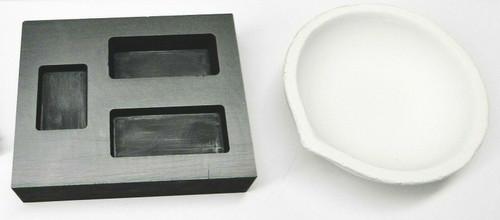 Melting Crucible Dish & Graphite Ingot Mold Combo 10oz Gold -5oz Silver Capacity