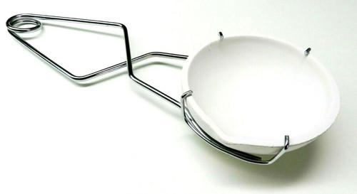 """Melting Set Large Crucible Dish 5-1/2"""" and Jumbo Whip Handle Dish Holder Tong"""