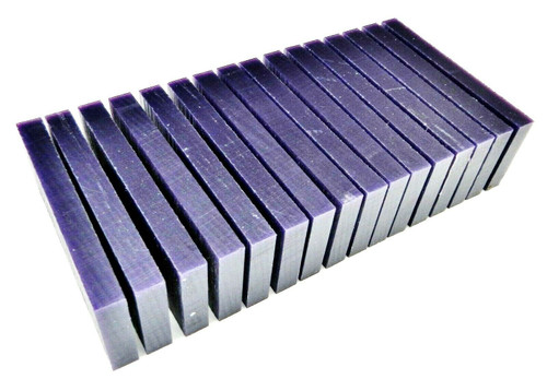 """Carving Wax Slices Ferris 3/8"""" Thick Purple Wax Design Jewelry Models 1 Pound"""
