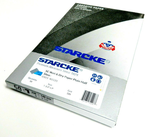 "Matador Abrasive Wet Dry Sandpaper 50 Sheet 320 Grit 5-1/2"" x 9"" Silicon Carbide"