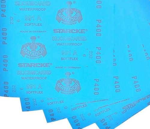"Matador Abrasive Wet Dry Sandpaper 50 Sheet 400 Grit 5-1/2"" x 9"" Silicon Carbide"