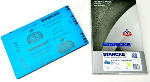 "Matador Abrasive Wet Dry Sandpaper 50 Sheet 180 Grit 5-1/2"" x 9"" Silicon Carbide"