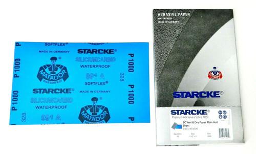 "Matador Abrasive Wet Dry Sandpaper 50 Sheet 1000 Grit 5-1/2 x 9"" Silicon Carbide"