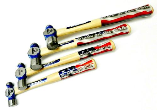 4 Vaughan Ball Peen Hammers 4oz 8oz 12oz & 16oz Forged Steel TC Series Made USA