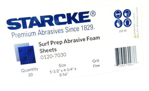 """Sanding Sponge Foam Back Pads 5-1/2"""" x 4-1/4"""" Fine 220/280 By STARCKE Box of 20"""