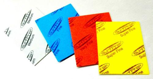 "Sanding Sponge Foam Back Pads 5-1/2"" x 4-1/4"" Assortment Pack of 4 Grits STARCKE"