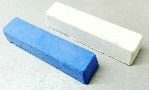 Jewelers Rouge Polishing Compound Blue White for Silver & White Metals 5oz Bars