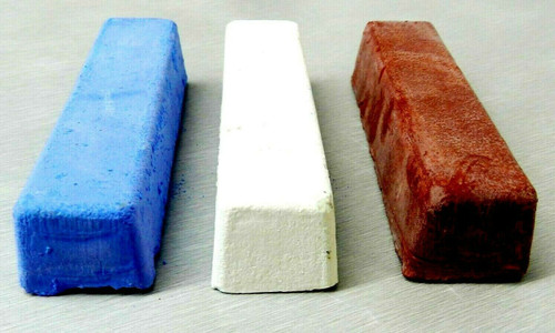 Jewelers Rouge Polishing Compound Red White & Blue for Gold Silver 3 Bars