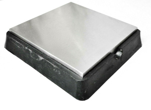 """6""""x6"""" Steel & Rubber Block Combination Bench Anvil Metal Working 6"""" Tapered Base"""