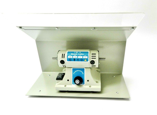 Bench Top Polisher Variable Speed with Splash Guard Jewelry Polishing Buffer Set