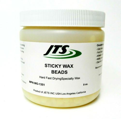 Sticky Wax Beads Hard Fast Drying Jewelry Making Wax Work & Casting 8oz Jar JTS