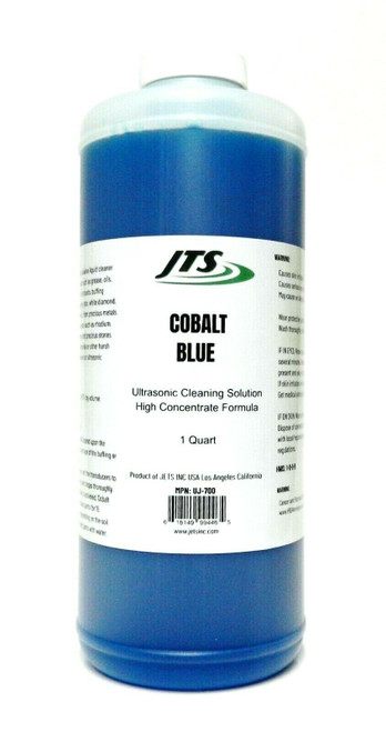 Ultrasonic Cleaning Solution JTS Cobalt Blue 1 Quart Clean Jewelry Compounds