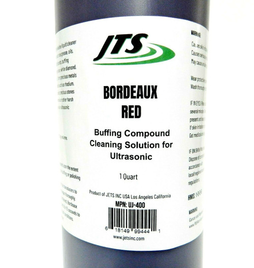 Ultrasonic Cleaning Solution JTS Bordeaux Red 1 Quart Buffing Compound Remover