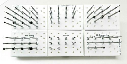 Jewelers Setting Bur Set Diamond Setter Kit Jewelry Assortment 6 Shapes 68 Burs