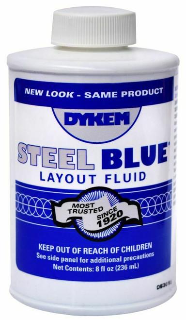 8oz Dykem Blue Layout Fluid Jewelry Plating Stop Off Mask, Brush Top Bottle