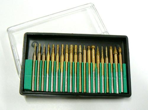10pc diamant Burr Set /& 4pc Pin Vice Broyage Drill Artisanat Bois Plastique Verre NEUF
