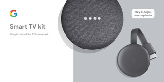 Make your TV and home a little smarter. Google Home Mini and Chromecast are made for each other.