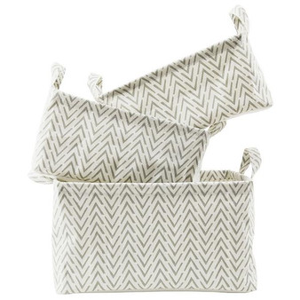 From your closet to the bathroom, organize everything with this set of three baskets.