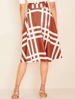 Basketweave Tie Waist Skirt (Size 12)