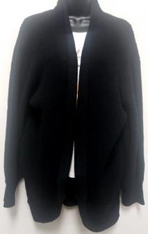 Curved Hem Cardigan- Knit (Sz Lg)