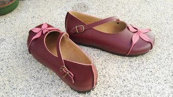 Vegan Leather Shoes, Flat Shoes, Ballerina Shoes, Slip Ons, black Shoes, OPHIURE WINE color