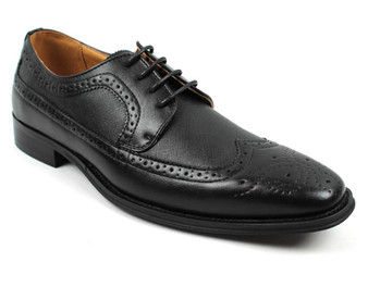 Lace Up Dress Shoes Oxfords Wing Tip Herringbone (Sz 10)