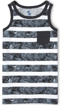 The Children's Place Boys' Mix And Match Striped Palm Pocket Tank Top - (Sz S/P)