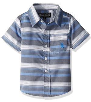 Boys' Classic Short Sleeve Woven Shirt - (Sz 6)