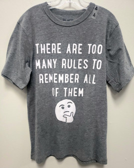 Too Many Rules Graphic Tee ( Sz Med)