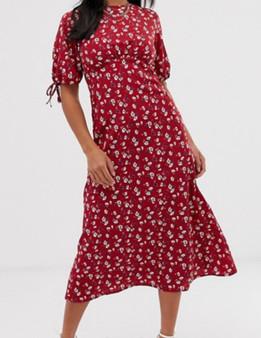 Floral  Petite Midi Tea Dress - (Sz US 6)
