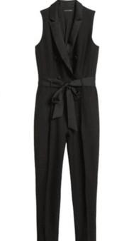 Tuxedo Jumpsuit in Black - (Sz  2)