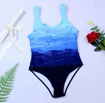 Push Up Swimwear One-piece Swimsuit Criss Cross Back.