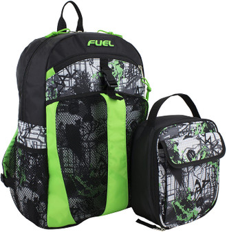 Spacious main compartments for easy packing and storage · Bonus Lunch Bag.