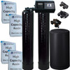 Dual Alternating Tank 2 cubic Foot (64k) Fleck 9100SXT On Demand Whole Home Water Softener with High Capacity Resin