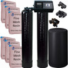 Dual Alternating Tank Iron Pro 3 cubic Foot (96k) Fleck 9100SXT On Demand Whole Home Water Softener with Fine Mesh Resin