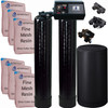 Dual Alternating Tank Iron Pro 3 cubic Foot (96k) Fleck 9100 On Demand Whole Home Water Softener with Fine Mesh Resin