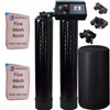 Dual Alternating Tank Iron Pro 1 cubic Foot (32k) Fleck 9100 On Demand Whole Home Water Softener with Fine Mesh Resin