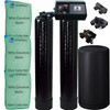 Dual Alternating Tank Upgraded 1.5 cubic Foot (48k) Fleck 9100 On Demand Whole Home Water Softener with 10% Crosslink Resin