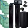 Dual Alternating Tank Upgraded 3 cubic Foot (96k) Fleck 9100SXT On Demand Whole Home Water Softener with 10% Crosslink Resin