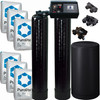 Dual Alternating Tank 3 cubic Foot (96k) Fleck 9100 On Demand Whole Home Water Softener with Purolite C100E Resin