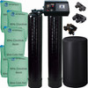 Dual Alternating Tank Upgraded 2.5 cubic Foot (80k) Fleck 9100 On Demand Whole Home Water Softener with 10% Crosslink Resin