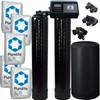 Dual Alternating Tank 2.5 cubic Foot (80k) Fleck 9100SXT On Demand Whole Home Water Softener with Purolite C100E Resin