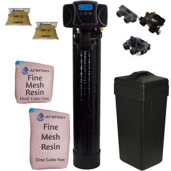 1.5 Cubic Foot (48k max) Iron Pro Plus Fine Mesh Digital Water Softener with Fleck 5600SXT