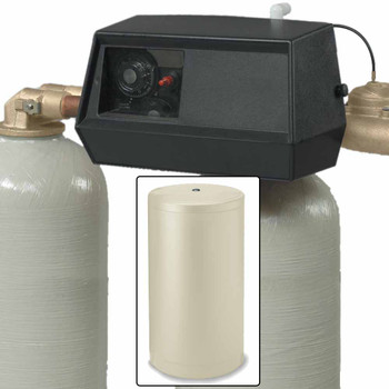 96k Dual Tank Alternating Water Softener with Fleck 9000