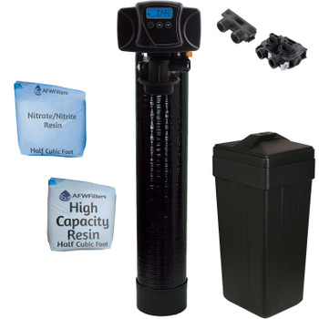 Digital Nitrate/Nitrite Filter Water Softener 1 Cu Ft 50/50 Resin Blend with Fleck 5600SXT