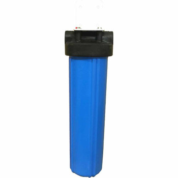 20-inch Single Canister Big Blue Catalytic Carbon/KDF-85 Iron & Sulfur Whole House Filter