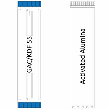 20-inch Big Blue 2 Stage Filter Kit with Activated Alumina & KDF 55