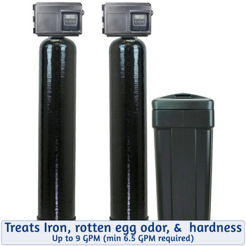 Iron Filter and Softener Package Deal - 9 GPM Filox Iron Filter and 48k Water Softener with Fleck 2510SXT